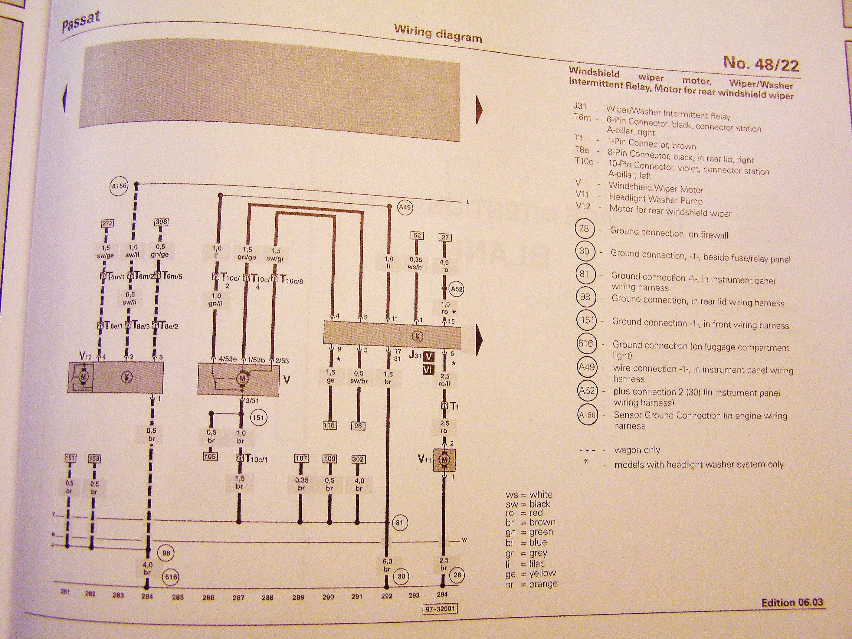 Pin-out needed for 2004 wiper motor | Volkswagen Passat ForumPassat World