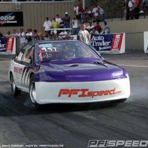 The fastest of the 3 car team we had at the time.  Ran 8.21 at 171mph