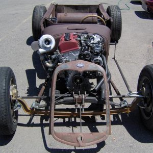 Just couldnt help ourselves on this one.  A ratrod with an s2000 motor in it turboed.  Couldnt help it.
