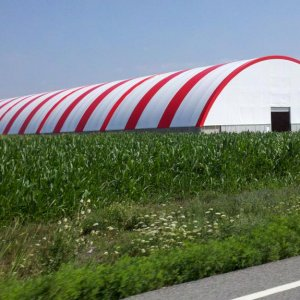 Enormous covered frame barn in the middle of nowhere, Ohio