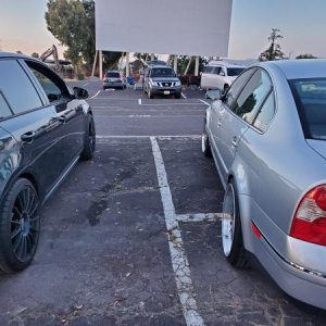 @ The drive ins with a buddy in his Gti
