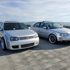 "R32 on 18"" BBS LM and My Passat on 19""BBS LM"